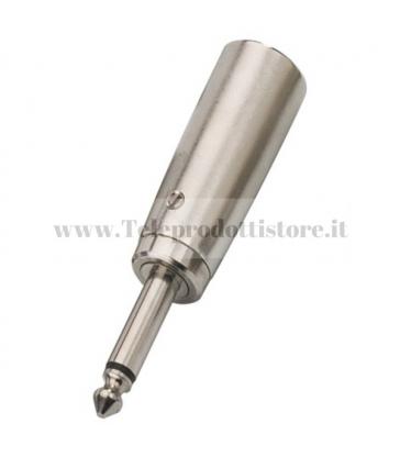 NTA-111 Adattatore jack mono maschio 6,3 mm su XLR maschio canon