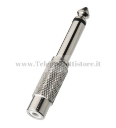 NTA-175M Adattatore metallo jack 6,3 mm mono su RCA femmina