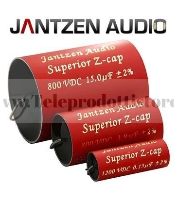 Z-Superior Cap Jantzen Audio 3.30µF- 800V 5% Assiale condensatore per crossover filtro HI-END