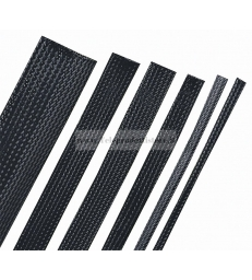 Guaina espandibile intrecciata NERO 1 METRO Ø15mm cavi hi end sleeve poliestere