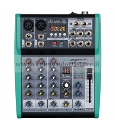 ZZMXBTE4 MONACOR mixer compatto 4 canali dsp bluetooth