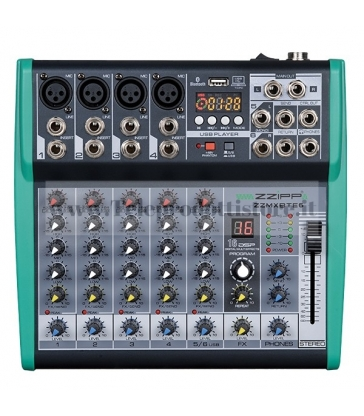 ZZMXBTE6 MONACOR mixer compatto 6 canali dsp bluetooth