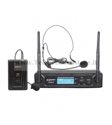 TXZZ113 MONACOR set radiomicrofono wireless ad archetto vhf 197,15
