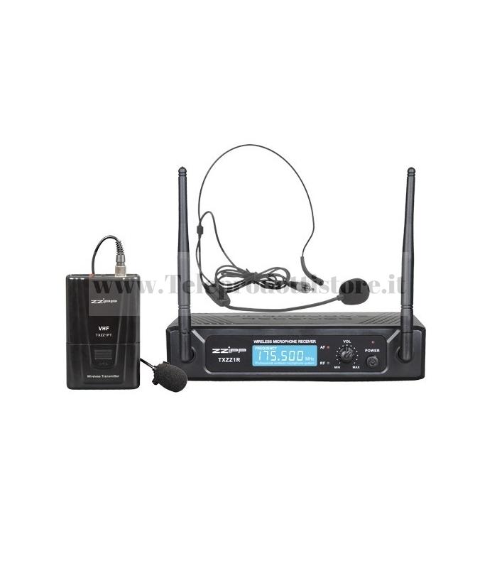 TXZZ113 MONACOR set radiomicrofono wireless ad archetto vhf 197,15