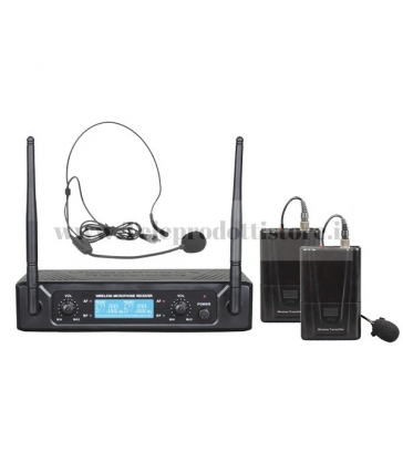 TXZZ520 MONACOR set doppio radiomicrofono wireless uhf 674,20/694,00