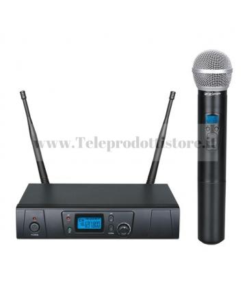 TXZZ600 MONACOR set radiomicrofono wireless a gelato uhf 16ch