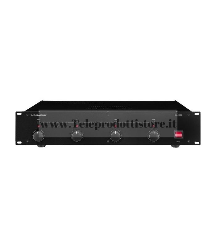 STA-450D Monacor AMPLIFICATORE 4 CH Amplificatore digitale a 4 canali