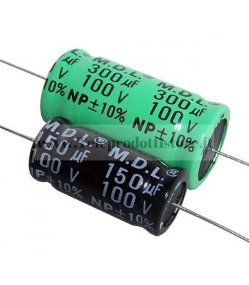 YCC0150 CONDENSATORE ELETTROLITICO ASSIALE 15 mf µF PER FILTRO CROSSOVER