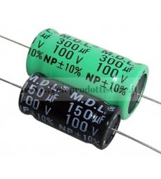 YCC1000 CONDENSATORE ELETTROLITICO ASSIALE 100 mf µF PER FILTRO CROSSOVER