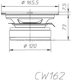 CW162 COPPIA WOOFER CIARE 6,5'' 165mm 4 ohm 91dB 200W Max CW 162 CW-162 SPL AUTO