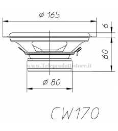 CW170Z COPPIA WOOFER CIARE 6,5'' 165mm 4 ohm 89dB 120W Max CAR CW 170 CW-170Z Z 170Z