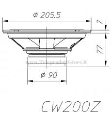 CW200Z COPPIA Woofer Ciare 8'' 200mm 4 ohm 160W Max HIFI CAR CW 200 Z 200Z CW-200Z AUTO