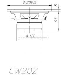 CW202 COPPIA Woofer Ciare 8'' 200 mm 4 OHM 240W Max HIFI CAR CW 202 CW-202 AUTO SPL 20