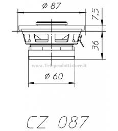CZ087 COPPIA COASSIALIE CIARE 8,7 cm 4 ohm 87 mm. 80W AUTO CAR WOOFER 2 VIE CZ-087 CZ 087
