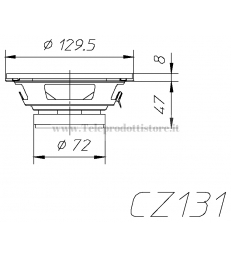 CZ131 COPPIA COASSIALE CIARE 130mm 100W AUTO CAR WOOFER 2 VIE CZ-131 CZ 131 4 OHM