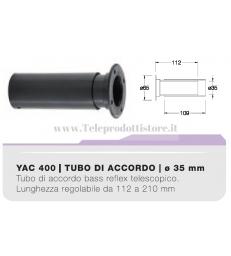 YAC400 tubo di accordo da 35mm telescopico ABS per casse acustiche bass reflex