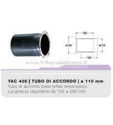 YAC406 tubo di accordo da 110mm per casse acustiche bass reflex Ciare YAC-406 406