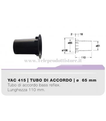 YAC415 tubo di accordo da 65mm in ABS per casse acustiche bass reflex Ciare
