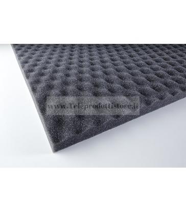 YAC824 Spugna poliuretano bugnato fonoassorbente adesiva per diffusori acustici