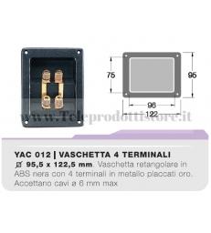 YAC012 Vaschetta portaterminali doppia contatti dorati CIARE porta terminali bi-wiring