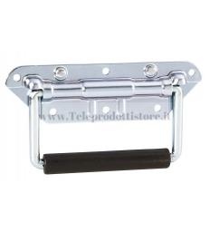 34482 Maniglia esterna con richiamo in metallo acciaio per flight case flightcase fly case