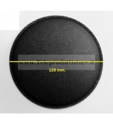 Cupola parapolvere 120 mm. fonotrasparente di ricambio in tela woofer copripolvere