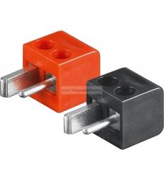 11250 Coppia connettori punto e linea per casse diffusori altoparlanti vintage