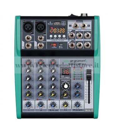 ZZMXBTE4 MONACOR mixer compatto 4 canali dsp bluetooth