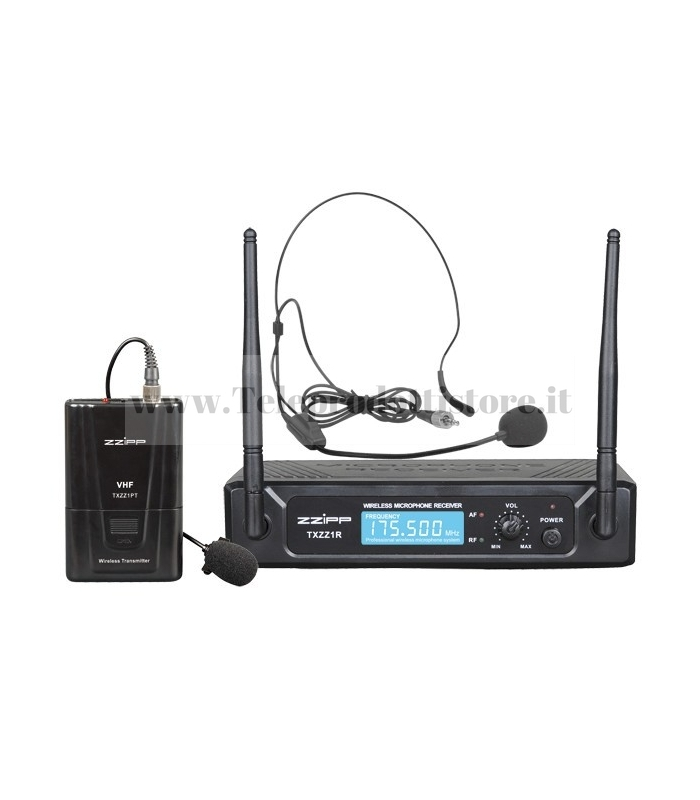 TXZZ111 MONACOR set radiomicrofono wireless ad archetto vhf175,50 mhz