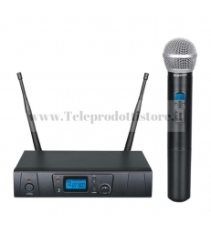 TXZZ600 Monacor kit radio microfono wireless a gelato uhf 16ch kit wireless radiomicrofono