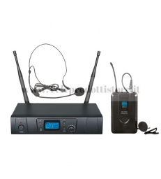TXZZ601 MONACOR set radiomicrofono wireless ad archetto uhf 16ch