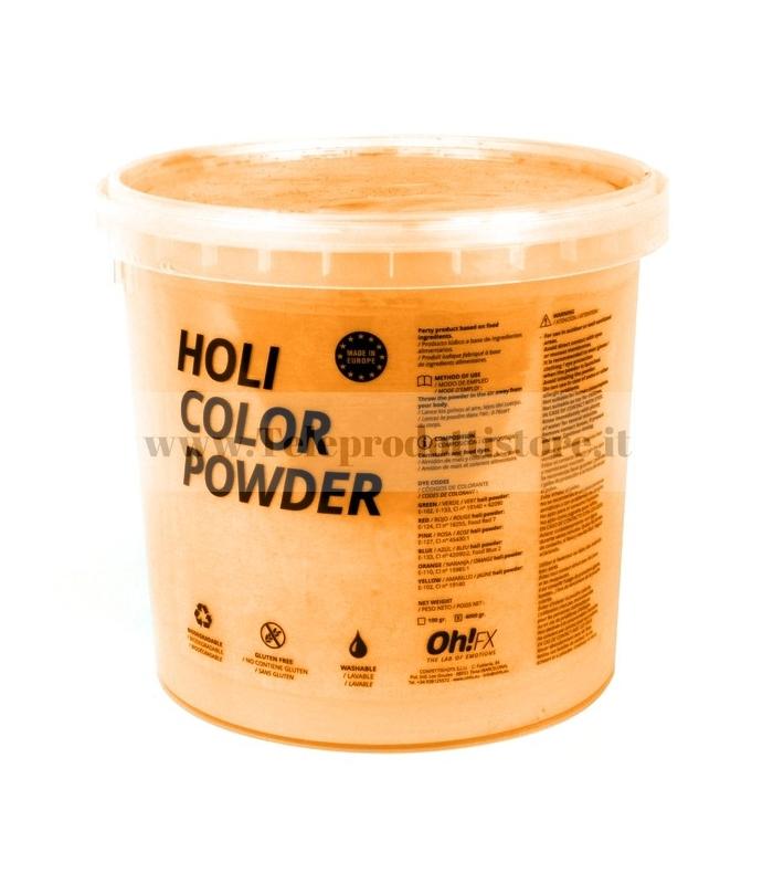 HOL5-NJ Ohfx polvere holi party colorata arancione atossica lavabile 5kg