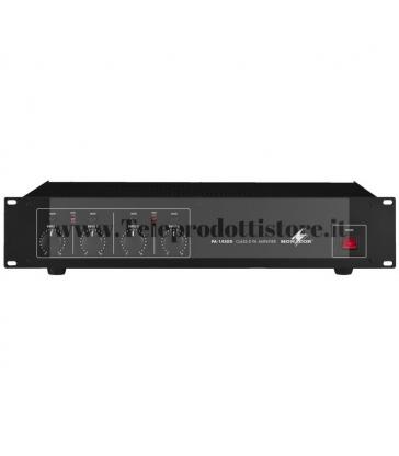 PA-1450D Monacor AMPLIFICATORE DIGITALE 100V 4X50W PA a 4 canali