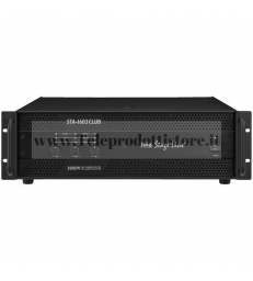 STA-1603CLUB Monacor AMPLIFICATORE sistema CLUB SUB 850W + SATELLITI 2X320W