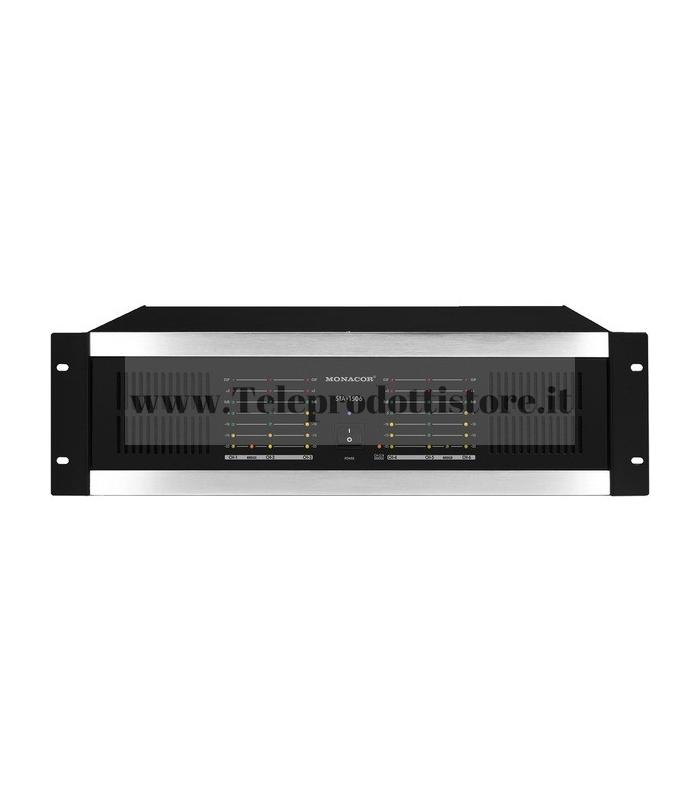 STA-1506 Monacor AMPLIFICATORE stereo multicanale PA 6 canali 6x160WRMS