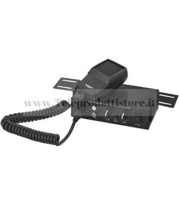 PA-102 Monacor AMPLIFICATORE mixer PA mono 15W ALIMENTAZIONE 12V microfono PTT