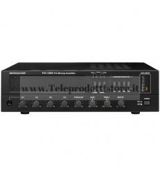 PA-1200 Monacor Amplificatore Mixer Mono 100v 120w 4 ingressi 4 zone