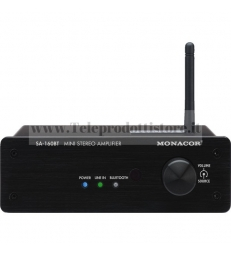 SA-160BT Monacor AMPLIFICATORE CON BLUETOOTH stereo mini 2x30 WRMS