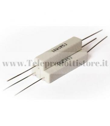 YCR0047 Resistore 0,47 OHM 10W ceramico a filo resistenza filtro crossover
