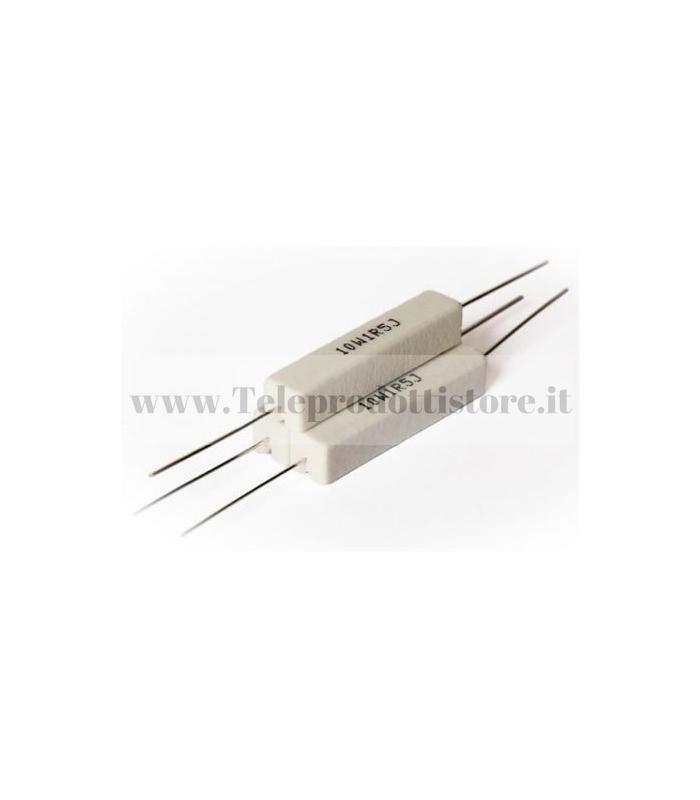 YCR0068 Resistore 0,68 OHM 10W ceramico a filo resistenza filtro crossover