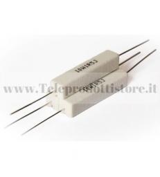YCR0082 Resistore 0,82 OHM 10W ceramico a filo resistenza filtro crossover