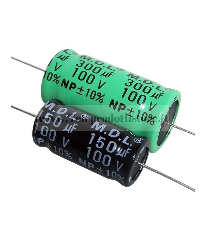 YCC0100 Condensatore elettrolitico assiale 10 mf µF per filtro crossover
