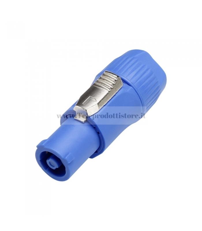 7923 Connettore spina Powercon maschio di alimentazione volante blu in