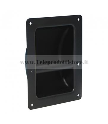 3402 Maniglia ad incasso in acciaio nera per flight case casse diffusori in legno