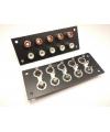 Basetta connettore RCA femmina isolati da pannello con 10 prese coassiali