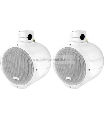 MKS-288TM/WS Monacor Coppia altoparlanti diffusori 2 vie bianco Montaggio su tubolare 100W