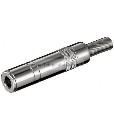 11071 Spinotto Jack 6,3 mm Femmina Volante Metallo Antipiega
