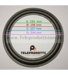 """BRP250 Sospensione altoparlante in foam woofer 250 mm. 25 cm. bordo di ricambio 10"""""""