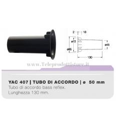 YAC407 tubo di accordo da 50mm in ABS per casse acustiche bass reflex