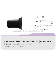 YAC415 tubo di accordo da 65mm in ABS per casse acustiche bass reflex Ciare